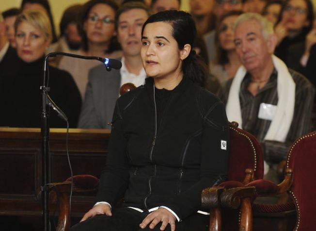 Triana Martínez, durante su declaración / Javier Casares.