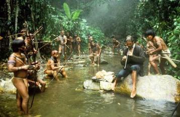 """Una de las escenas de la película """"La Misión""""."""