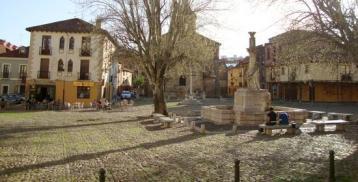 La plaza del Grano, que será remodelada en enero.
