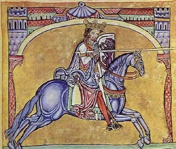 Imagen de Alfonso IX de León.