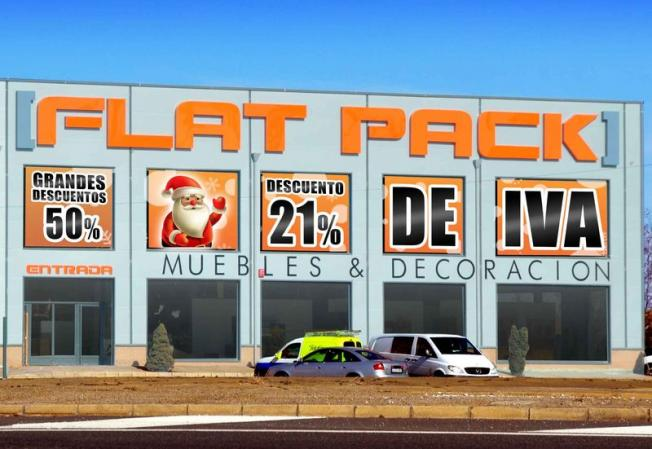 Flat pack se llena de grandes descuentos en esta navidad for Flat pack muebles